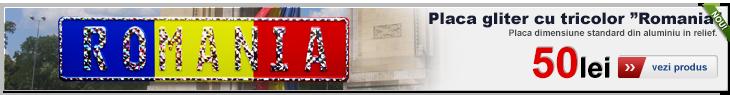 Placa numar standard personalizata cu gliter