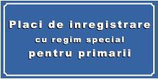 Placi de inmatriculare cu regim special