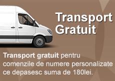 Fabrica de Numere - Transport gratuit pentru comenzi peste 180 Lei la placi personalizate