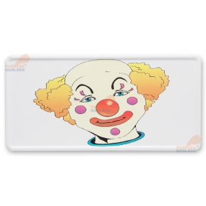 SUA license plate Clown