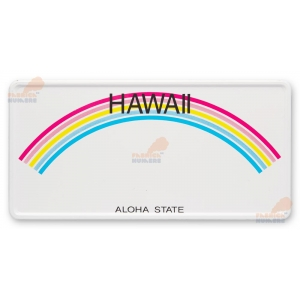 Placa format SUA,  Hawai