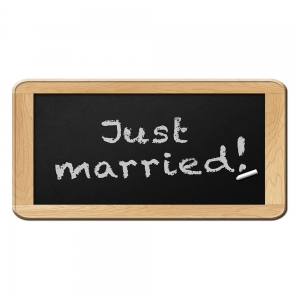 Placa format SUA Just Married