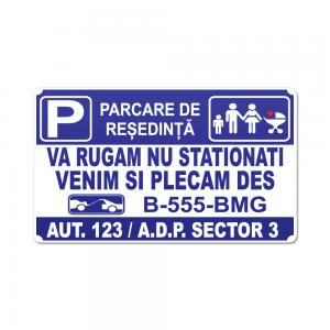 Placa parcare model 3 34x20cm