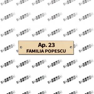 Placa pentru apartament gravata laser