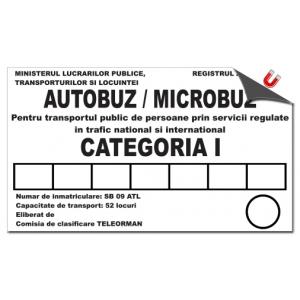 Stickere magnetice autocar