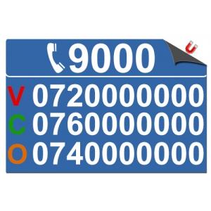 Stickere magnetice numere taxi