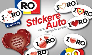 Stickere auto - orice design la cerere!