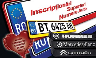 Inscriptionari suporturi numere auto