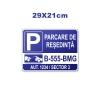 Placa parcare model 2 29x21cm