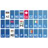 Sticker numar, diferite tari